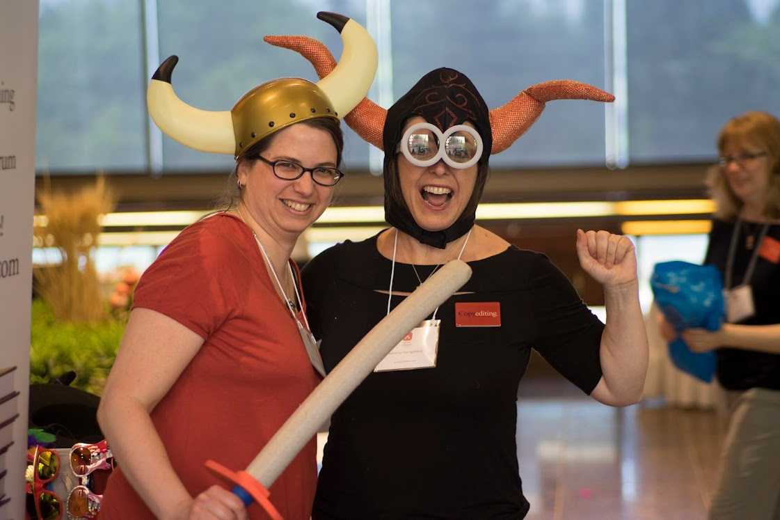 Attendees in superhero costumes at Conference 2017 in Ottawa-Gatineau