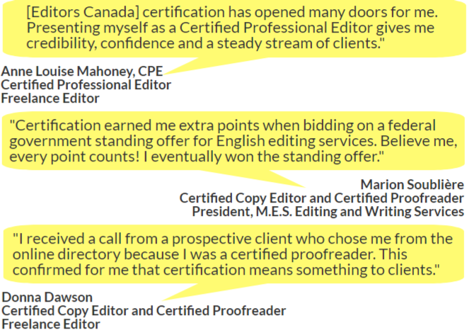 certification | editors canada