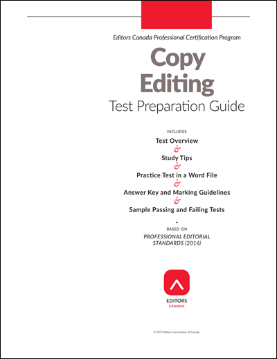 Editors Canada Certification Test Preparation Guides