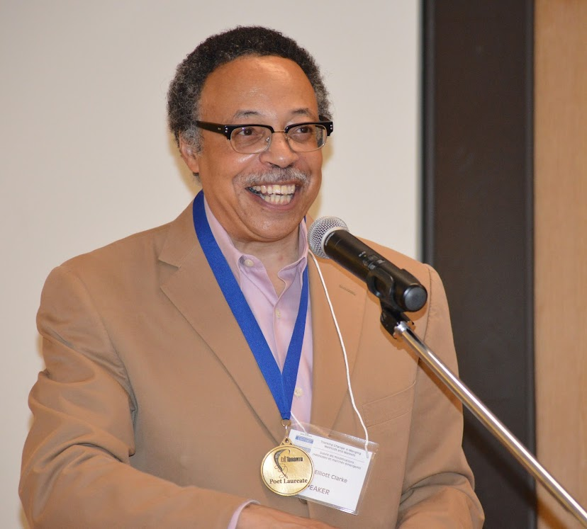 Toronto Poet Laureate George Elliott Clarke gives the opening keynote address at Editors Canada Conference 2014 in Toronto