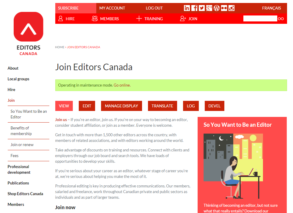 Join Editors Canada