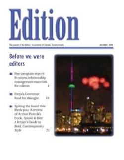 Edition - Editors Toronto newsletter December 2008
