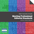 cover of Meeting Professional Editorial Standards workbook, from Editors Canada
