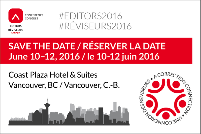 Editors Canada conference 2016