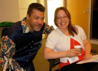 Gilles Vilasco and Carolyne Roy take a quick break from their conference volunteering duties
