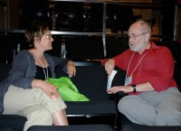 Jonathan Paterson shares his wisdom during the speed mentoring session