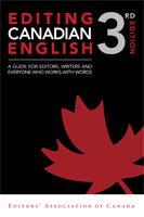 Editing Canadian English, 3rd edition