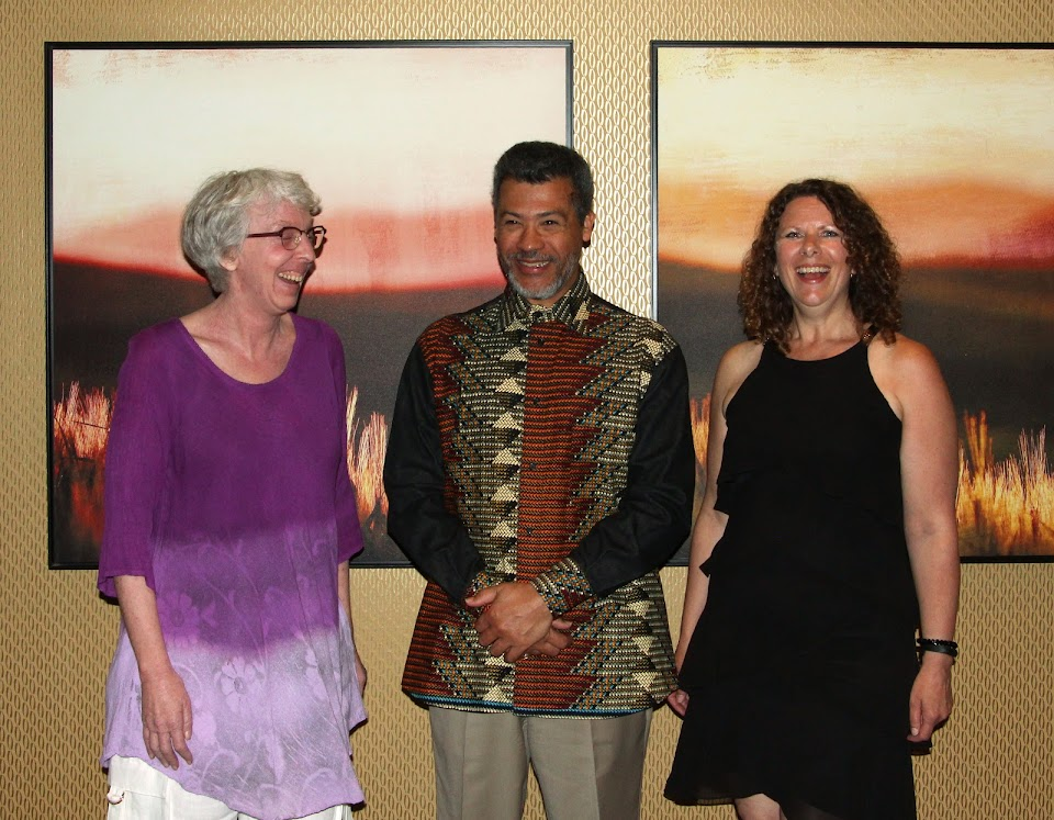 2018 Tom Fairley Award finalists Lenore Hietkamp, Gilles Vilasco and Michelle van der Merwe