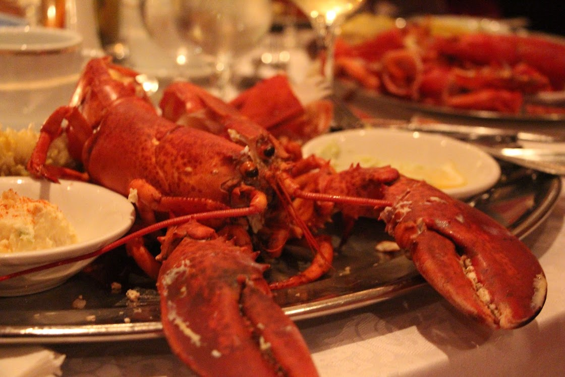 Closeup of a lobster dinner at the banquet of Editors Canada Conference 2013 in Halifax