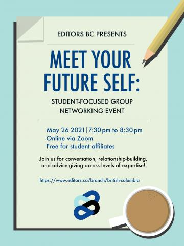 Poster with information on student networking event