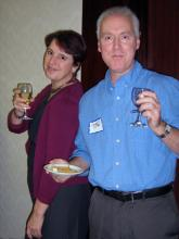 Members enjoy the National Capital Region branch (now Editors Ottawa-Gatineau) Wine and Cheese event in 2012