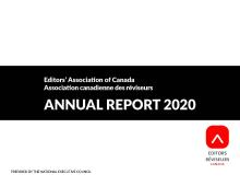 Editors Canada 2020 Annual Report
