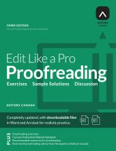 Cover for Edit Like a Pro: Proofreading published by Editors Canada