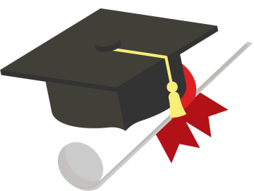 Claudette Upton Scholarship, illustration of a graduation cap and rolled diploma (grgroup © 123RF.com